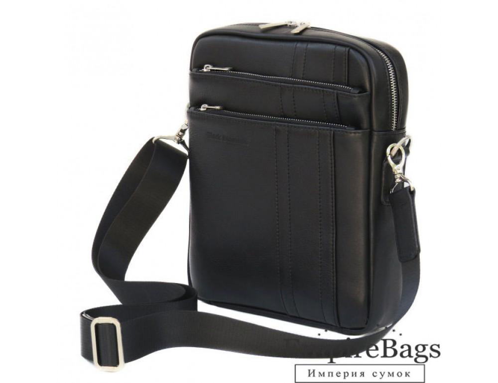Мужская кожаная сумка-мессенджер Black Diamond BD11ATor чёрная