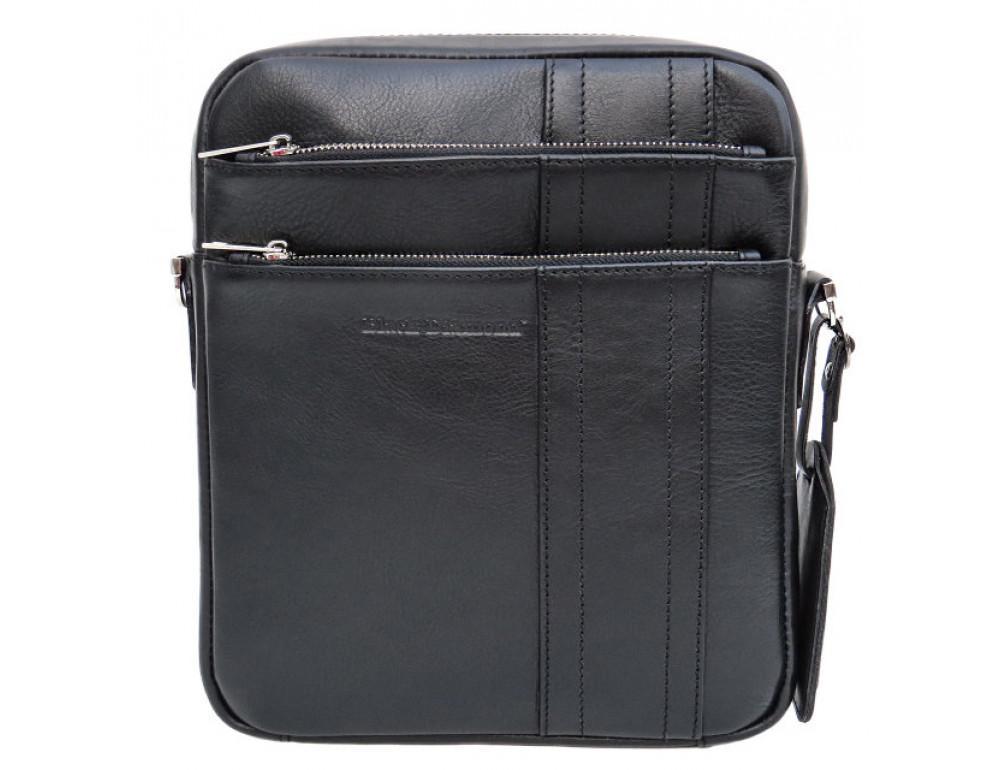 Мужская кожаная сумка-мессенджер Black Diamond BD11ATor чёрная - Фото № 2