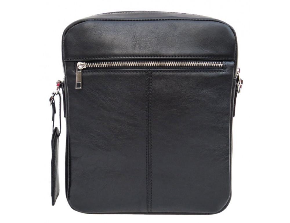 Мужская кожаная сумка-мессенджер Black Diamond BD11ATor чёрная - Фото № 3