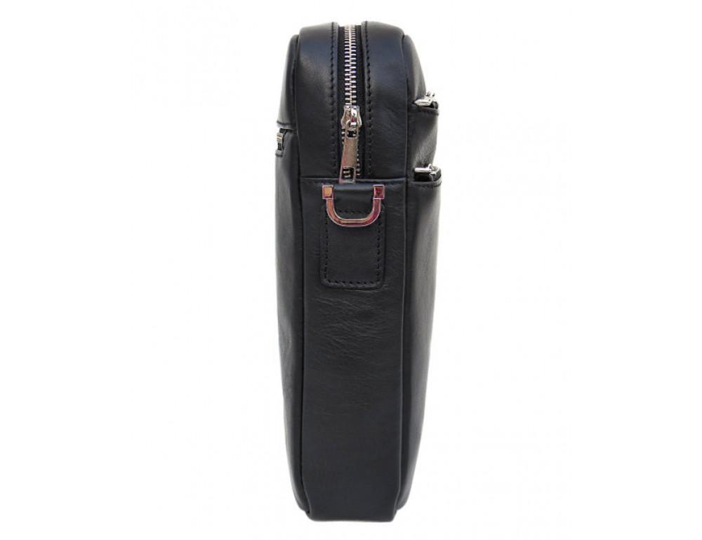 Мужская кожаная сумка-мессенджер Black Diamond BD11ATor чёрная - Фото № 4