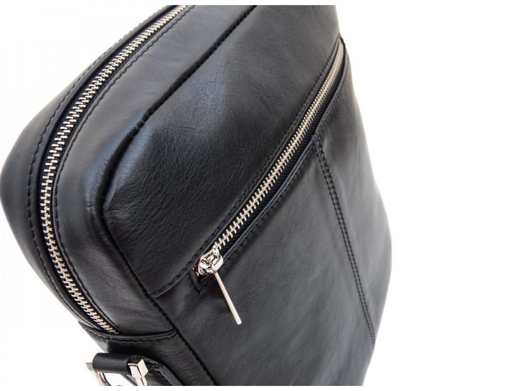 Мужская кожаная сумка-мессенджер Black Diamond BD11ATor чёрная - Фото № 6