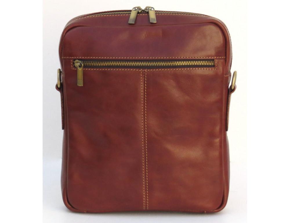 Мужская кожаная сумка Black Diamond BD11C рыжая - Фото № 3