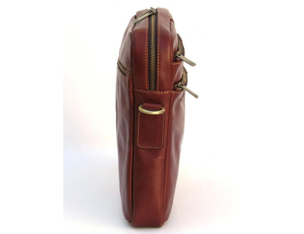Мужская кожаная сумка Black Diamond BD11C рыжая - Фото № 4