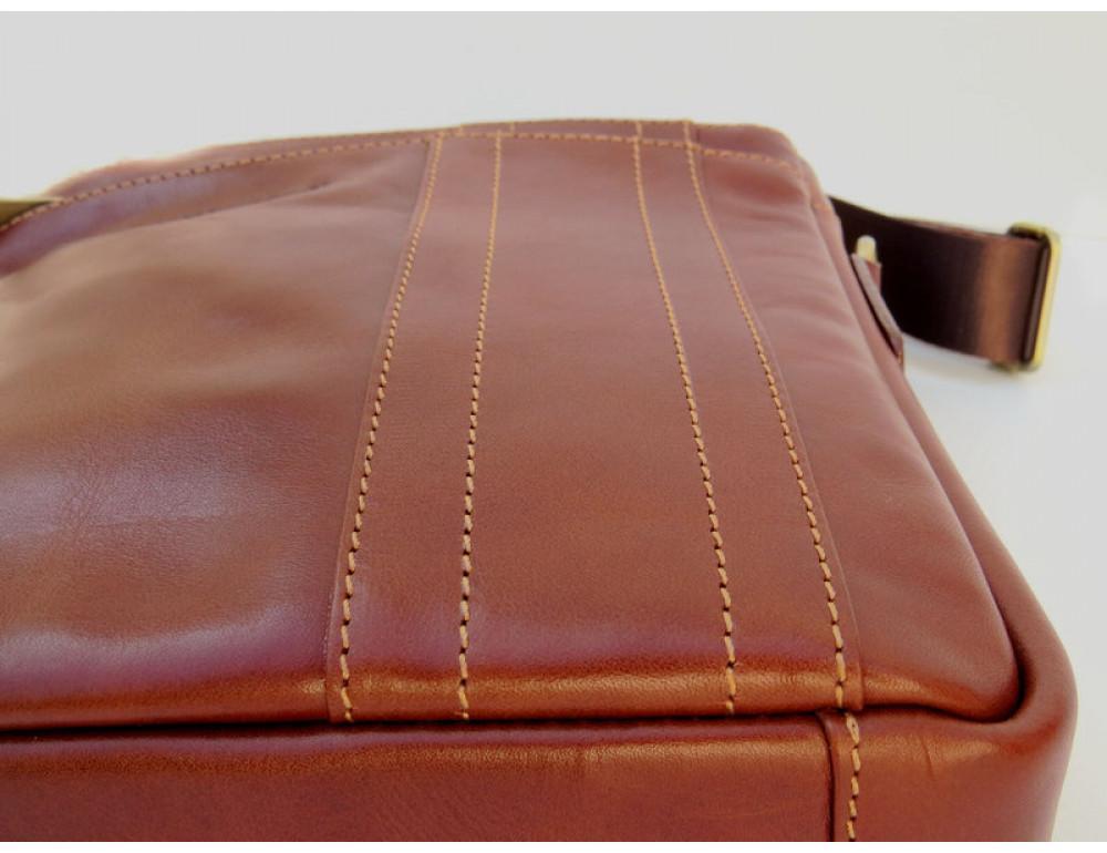 Мужская кожаная сумка Black Diamond BD11C рыжая - Фото № 6