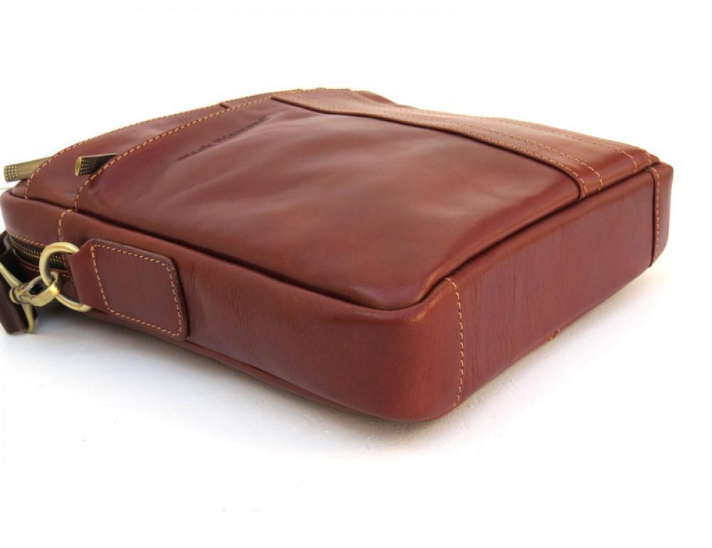 Мужская кожаная сумка Black Diamond BD11C рыжая - Фото № 7