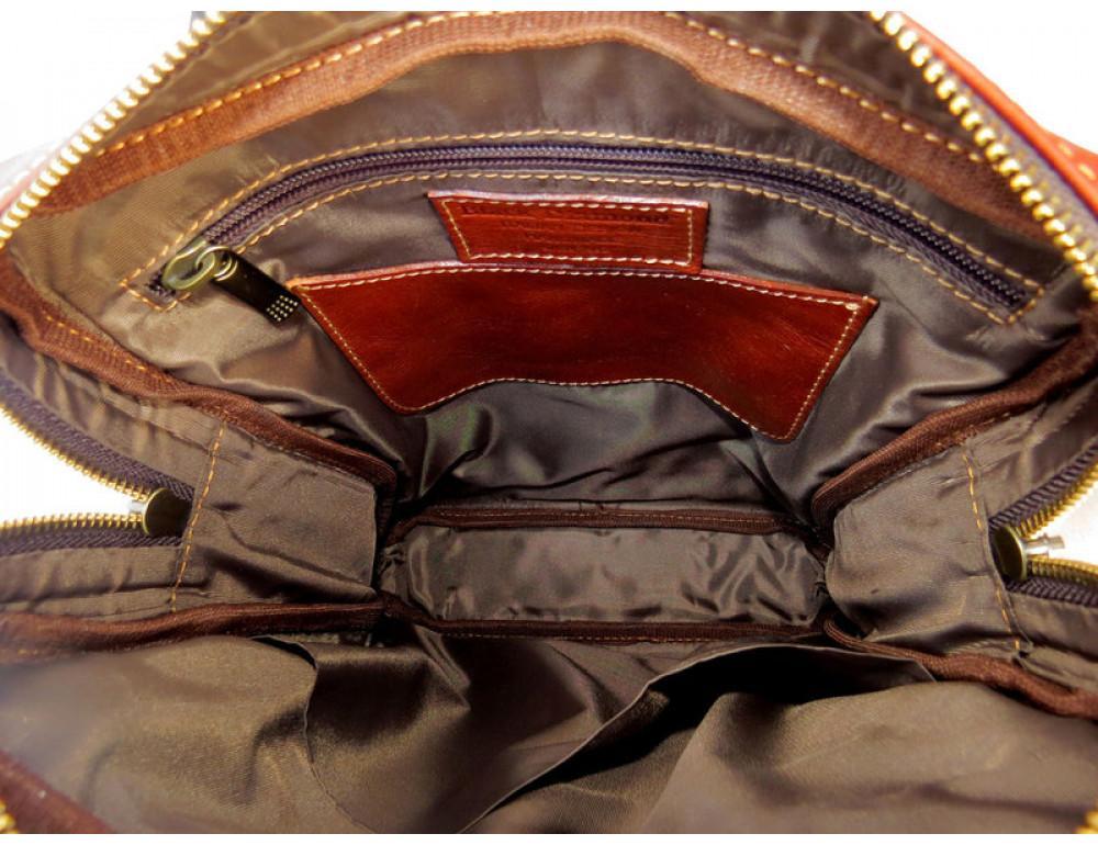 Мужская кожаная сумка Black Diamond BD11C рыжая - Фото № 8