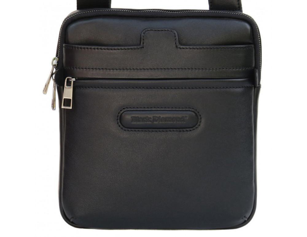 Мужская кожаная сумка-мессенджер Black Diamond BD16v2Ator чёрная - Фото № 2