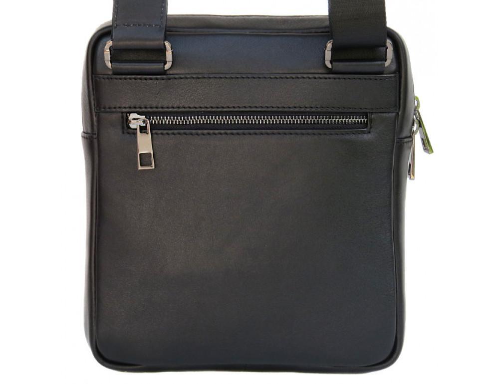 Мужская кожаная сумка-мессенджер Black Diamond BD16v2Ator чёрная - Фото № 3