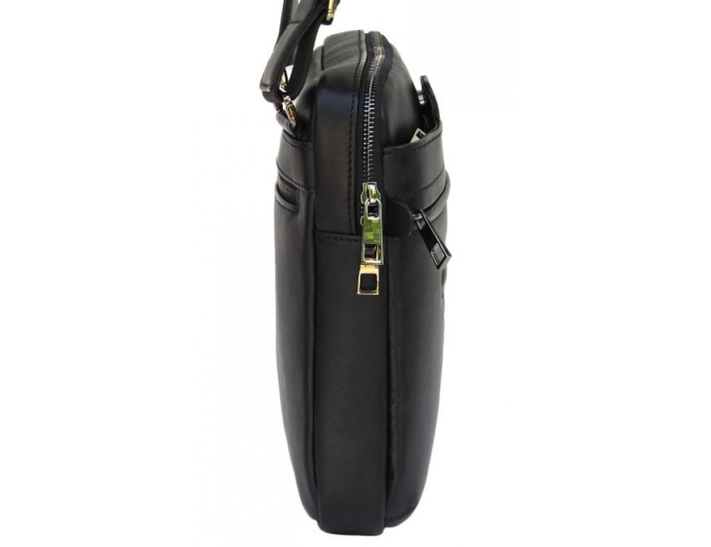 Мужская кожаная сумка-мессенджер Black Diamond BD16v2Ator чёрная - Фото № 4