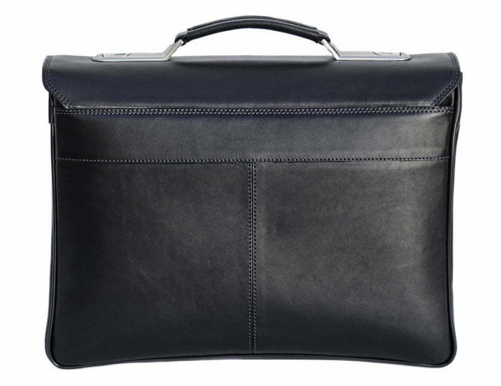 Мужской кожаный портфель Black Diamond BD21A чёрный - Фото № 2