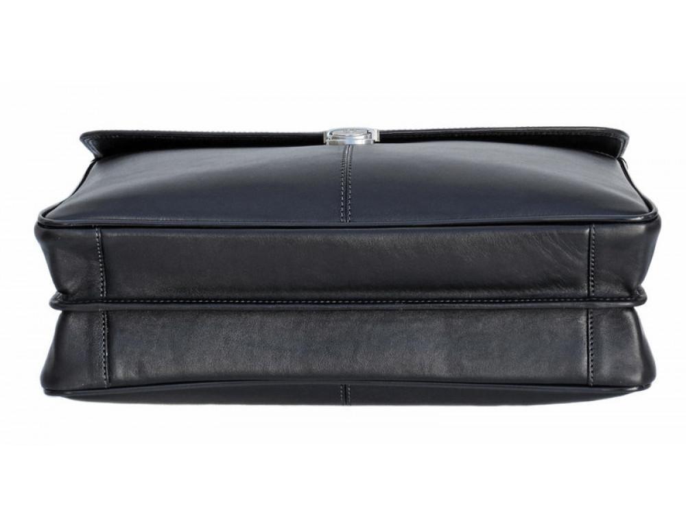 Мужской кожаный портфель Black Diamond BD21A чёрный - Фото № 4