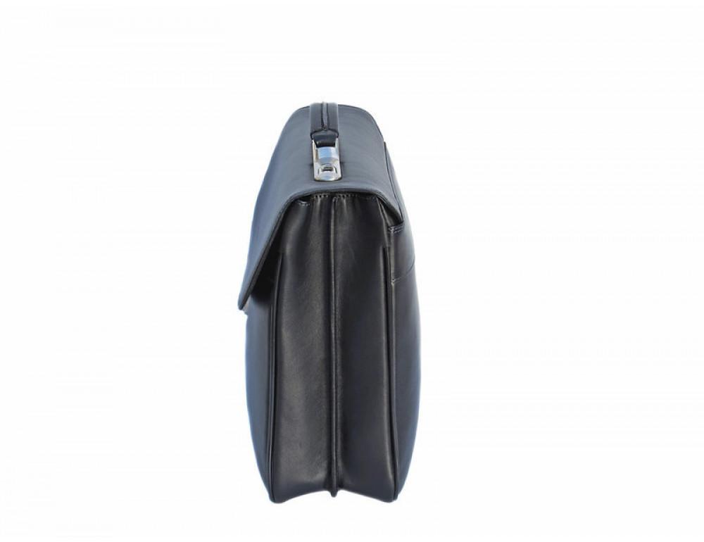 Мужской кожаный портфель Black Diamond BD21A чёрный - Фото № 5