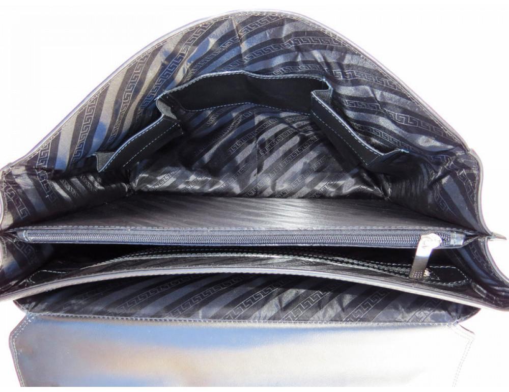 Мужской кожаный портфель Black Diamond BD21A чёрный - Фото № 6