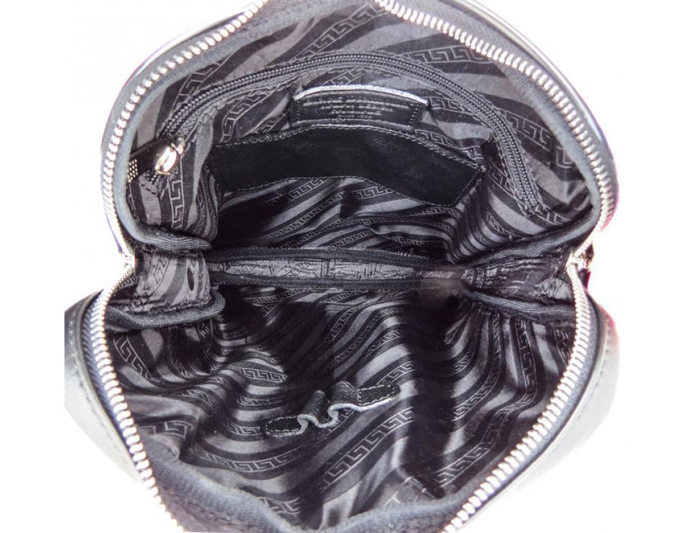 Мужская кожаная почтальонка Black Diamond BD26A чёрная - Фото № 10