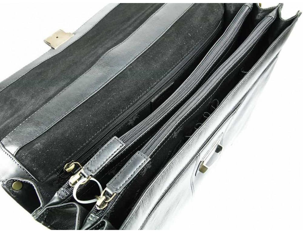 Кожаный портфель Visconti 01775 - Warwick (black) - Фото № 2