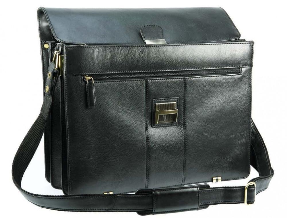 Кожаный портфель Visconti 01775 - Warwick (black) - Фото № 3