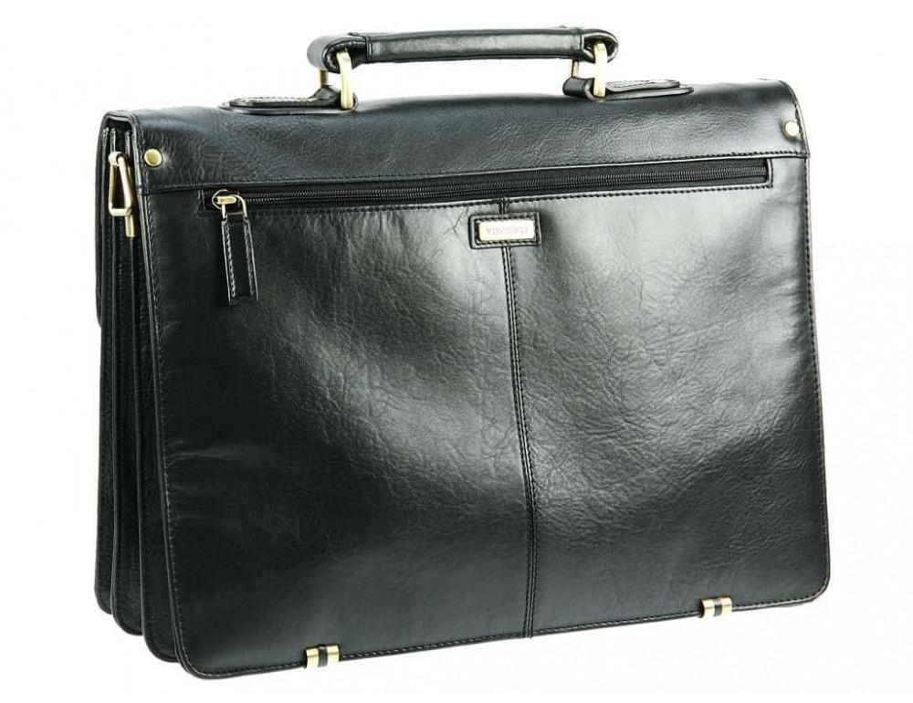Кожаный портфель Visconti 01775 - Warwick (black) - Фото № 4
