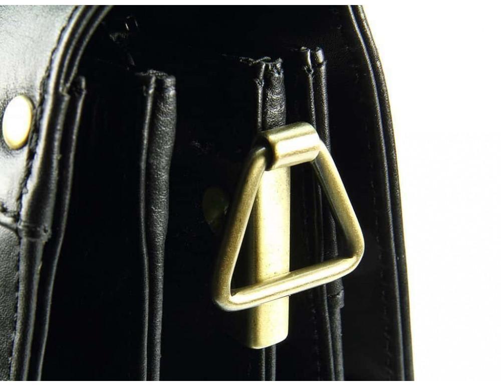 Кожаный портфель Visconti 01775 - Warwick (black) - Фото № 5
