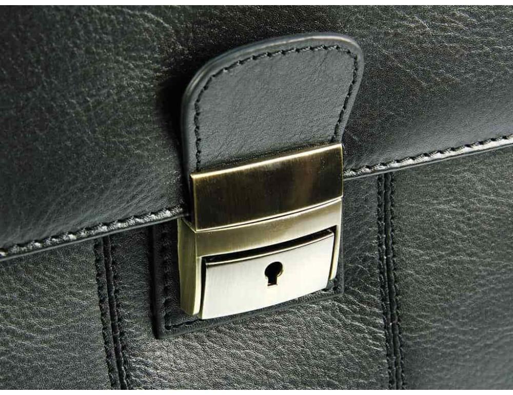 Кожаный портфель Visconti 01775 - Warwick (black) - Фото № 6