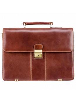 Шкіряний портфель Visconti 01775 - Warwick (Brown) коричневий