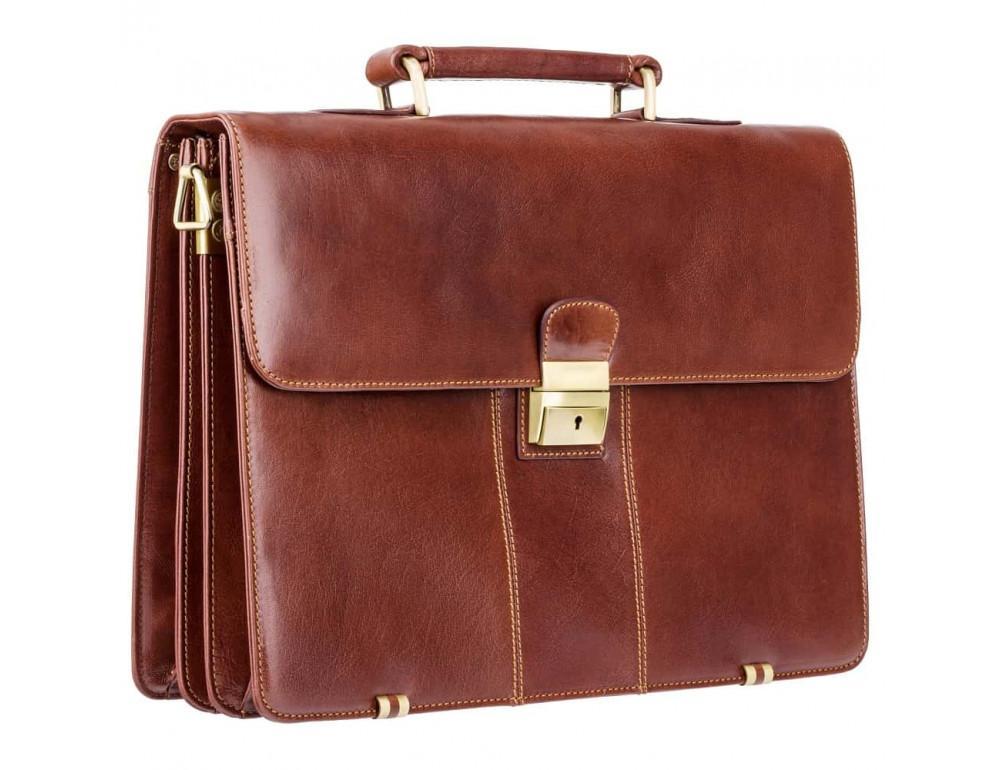 Кожаный портфель Visconti 01775 - Warwick (Brown) коричневый - Фото № 3