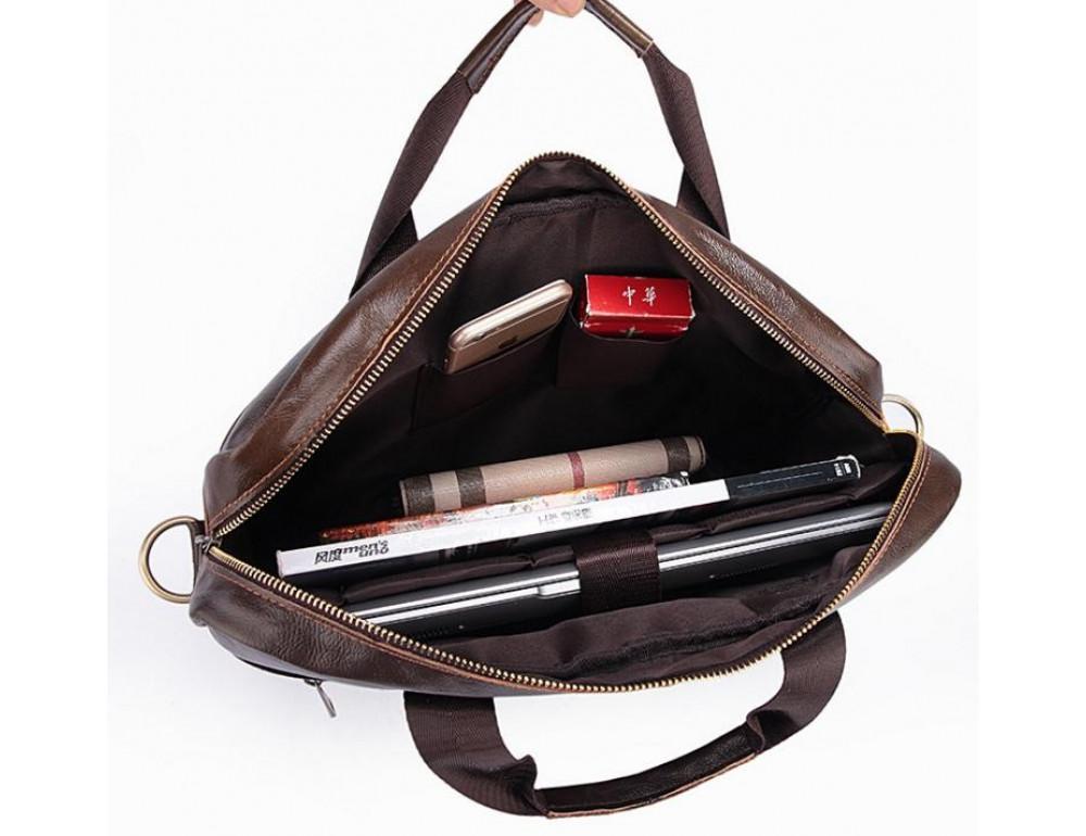 Чоловіча шкіряна сумка під ноутбук Bexhill Bx1128C - Фотографія № 4