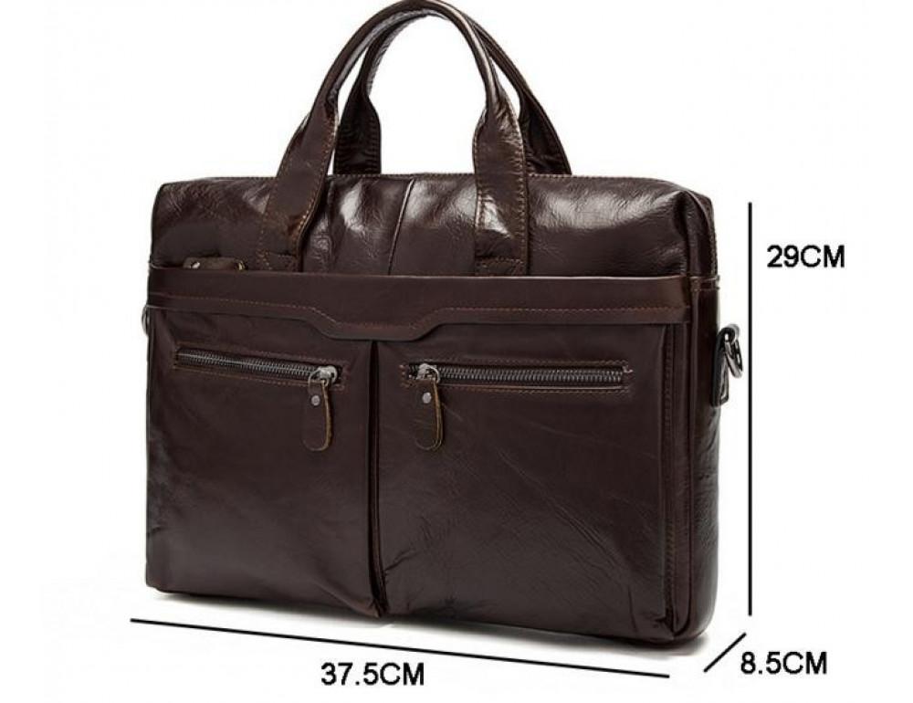 Мужской кожаный портфель Bexhill Bx9005C - Фото № 4