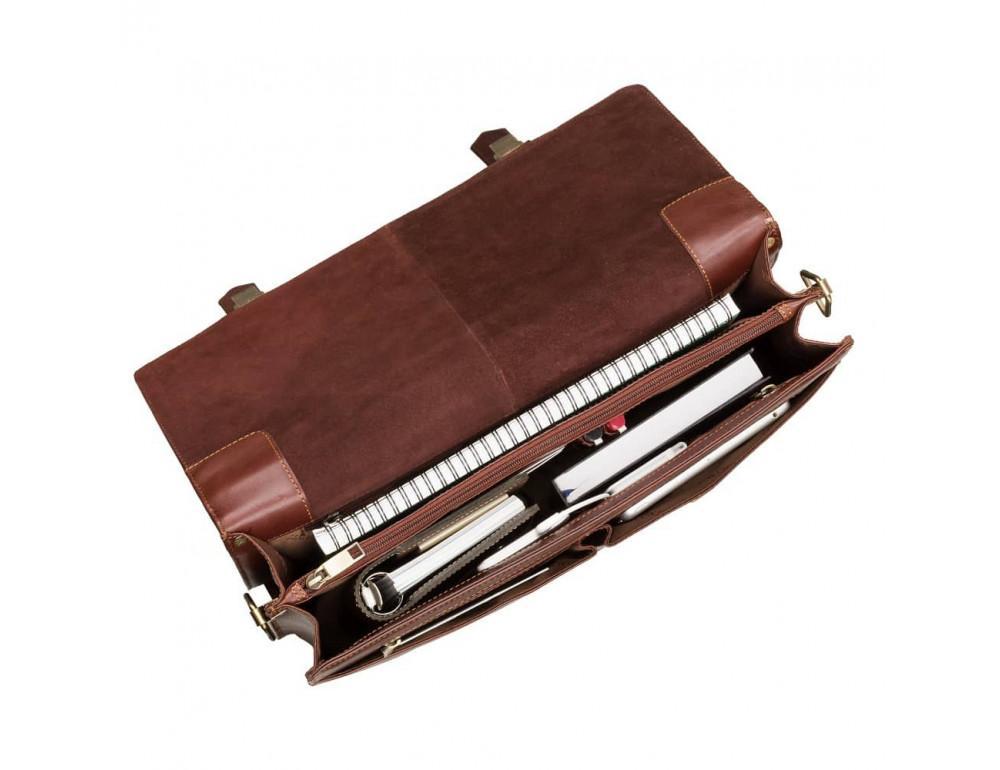 Кожаный портфель Visconti Visconti VT6 - Bennett коричневый - Фото № 2