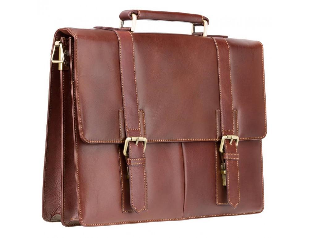 Кожаный портфель Visconti Visconti VT6 - Bennett коричневый - Фото № 3