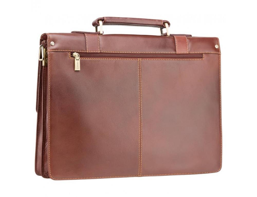 Кожаный портфель Visconti Visconti VT6 - Bennett коричневый - Фото № 5