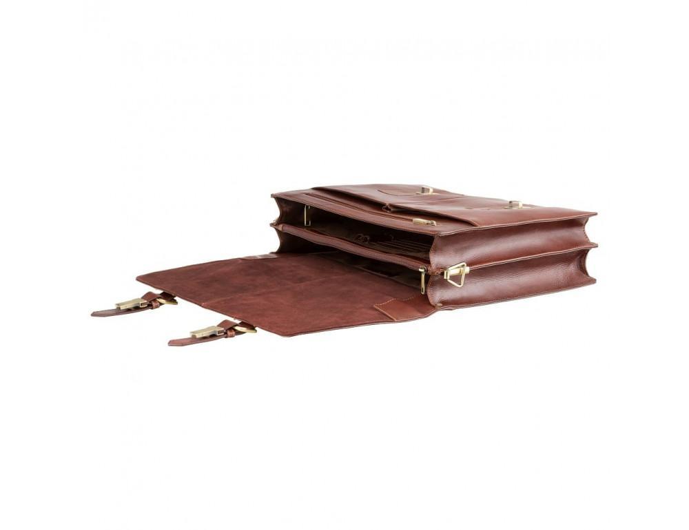 Кожаный портфель Visconti Visconti VT6 - Bennett коричневый - Фото № 6