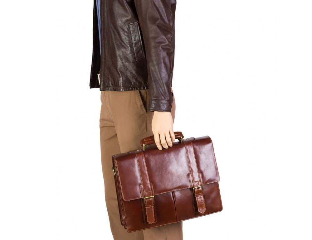 Кожаный портфель Visconti Visconti VT6 - Bennett коричневый - Фото № 7