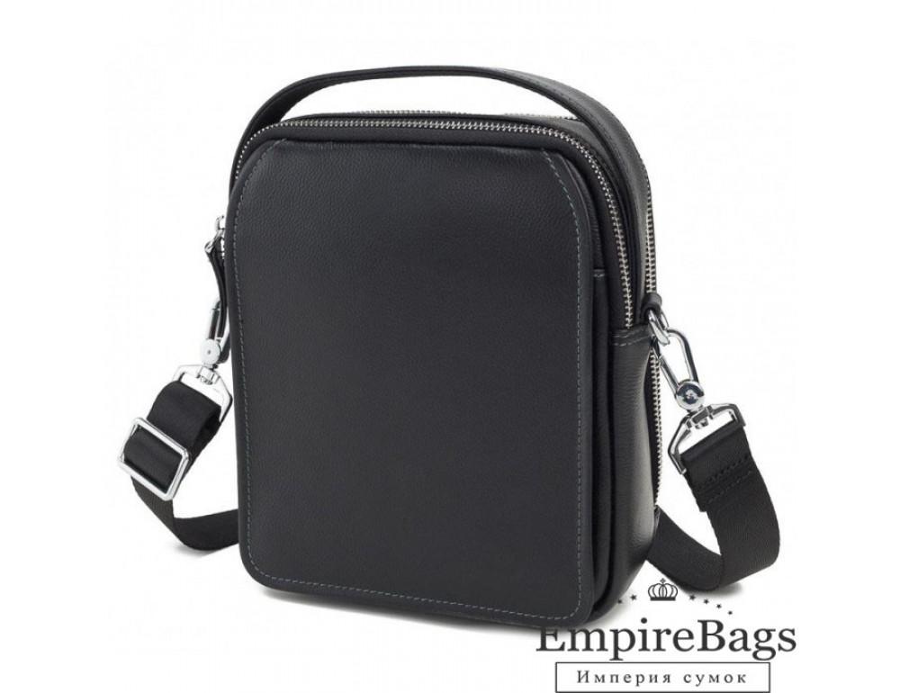 Мужской кожаный мессенджер TIDING BAG M711-3A чёрный - Фото № 1