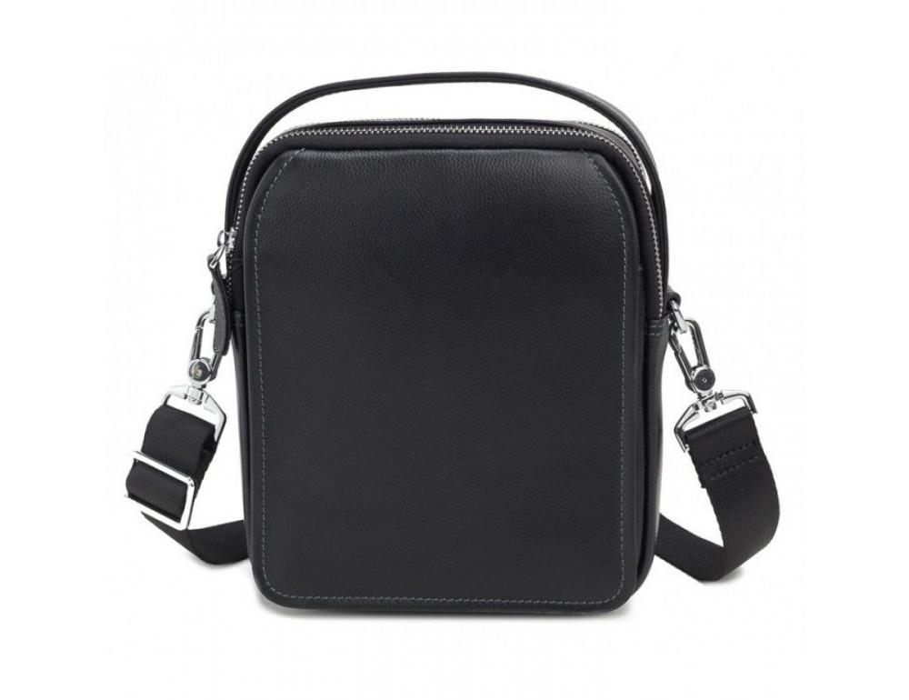 Мужской кожаный мессенджер TIDING BAG M711-3A чёрный - Фото № 2