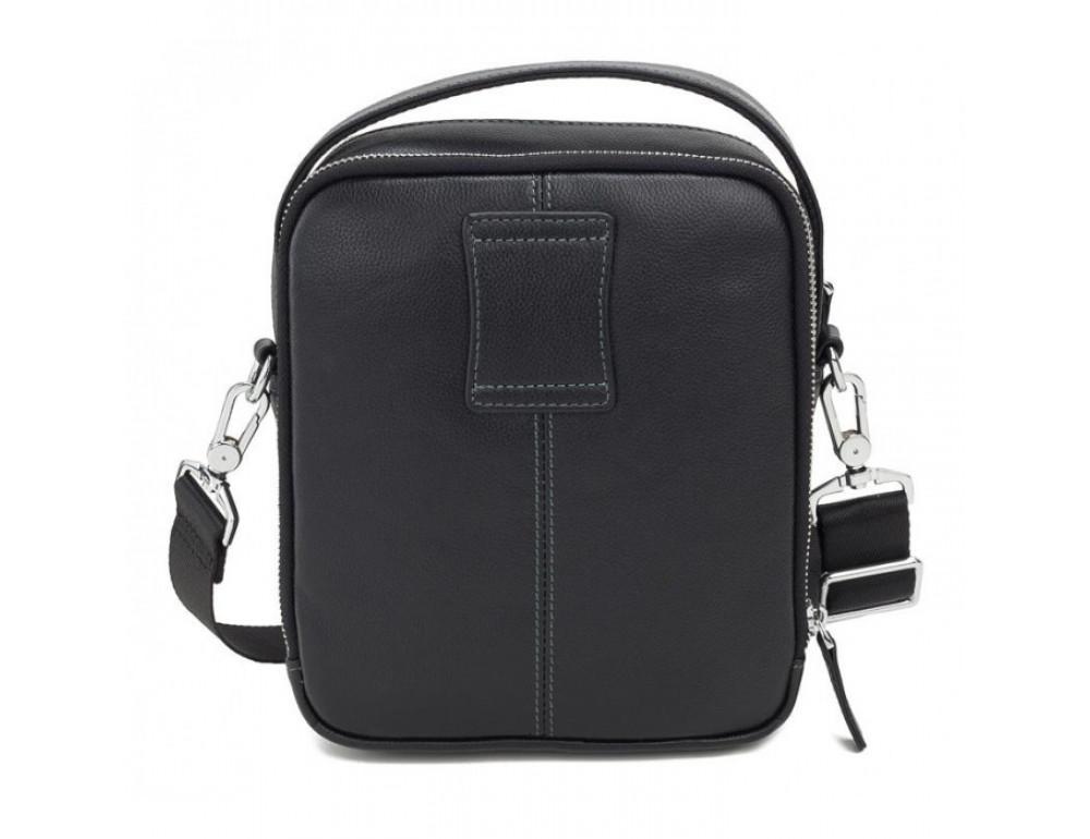 Мужской кожаный мессенджер TIDING BAG M711-3A чёрный - Фото № 3