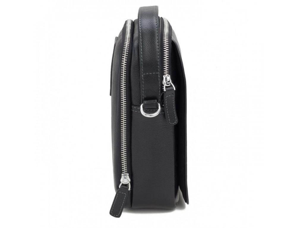 Мужской кожаный мессенджер TIDING BAG M711-3A чёрный - Фото № 4