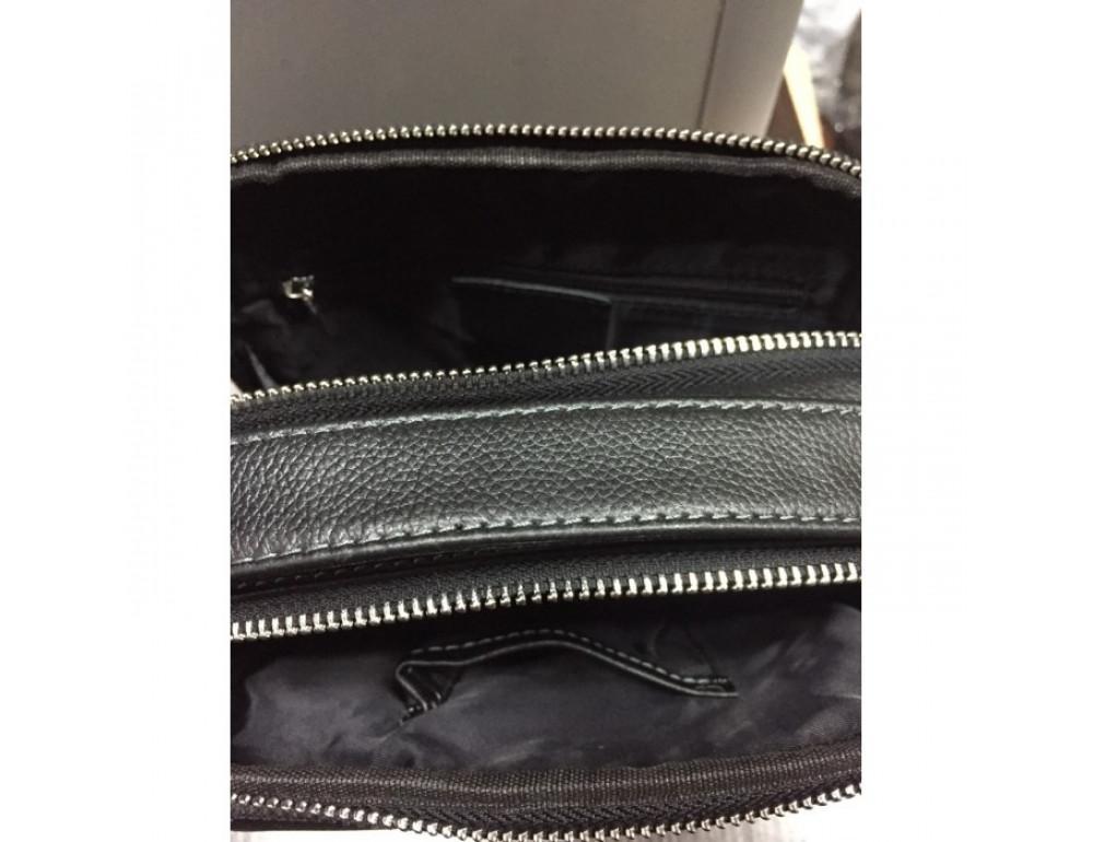 Мужской кожаный мессенджер TIDING BAG M711-3A чёрный - Фото № 6