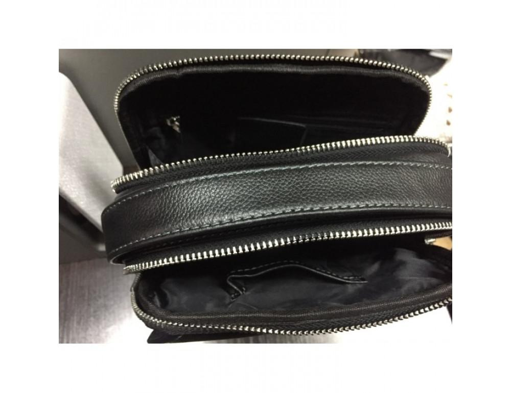 Мужской кожаный мессенджер TIDING BAG M711-3A чёрный - Фото № 7