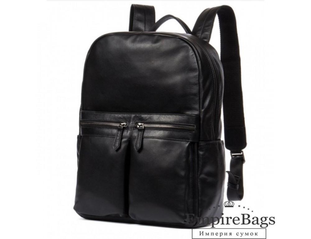 Кожаный городской рюкзак Tiding Bag NM17-1281-3A чёрный - Фото № 1