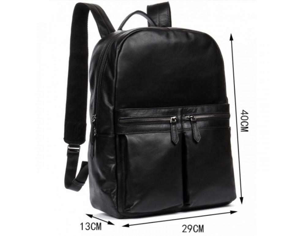 Кожаный городской рюкзак Tiding Bag NM17-1281-3A чёрный - Фото № 2