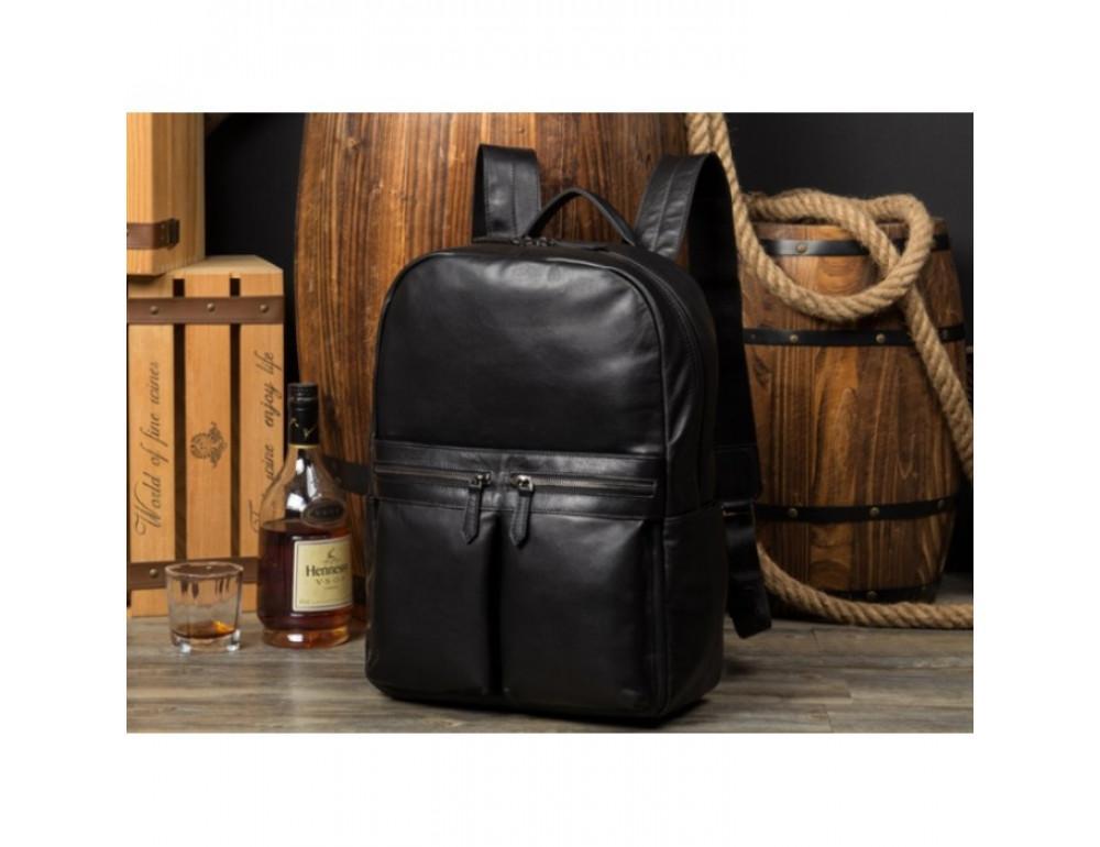 Кожаный городской рюкзак Tiding Bag NM17-1281-3A чёрный - Фото № 14