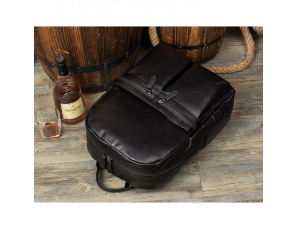 Кожаный городской рюкзак Tiding Bag NM17-1281-3A чёрный - Фото № 13