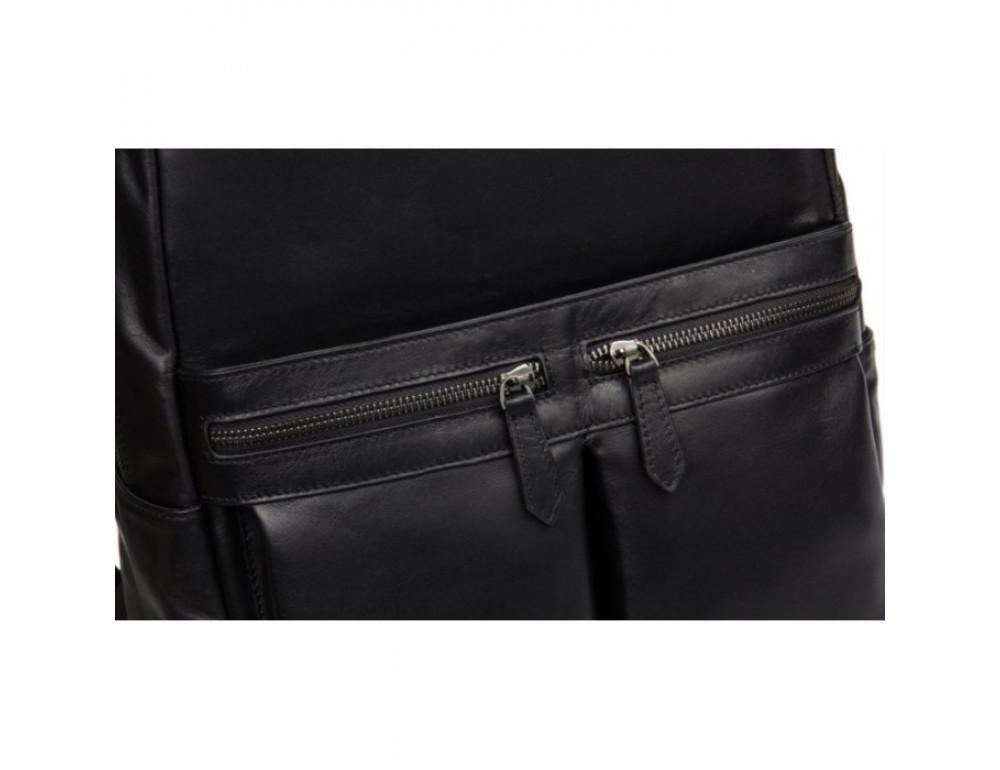Кожаный городской рюкзак Tiding Bag NM17-1281-3A чёрный - Фото № 12
