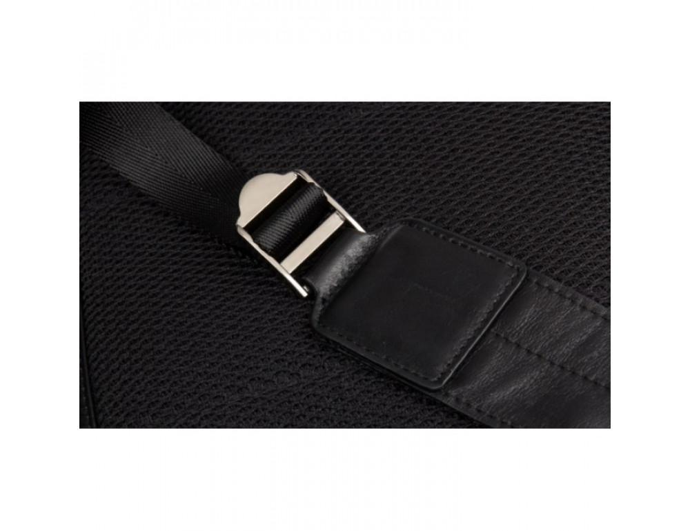 Кожаный городской рюкзак Tiding Bag NM17-1281-3A чёрный - Фото № 11