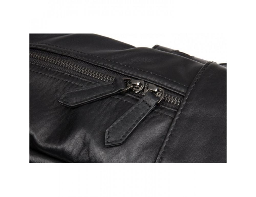 Кожаный городской рюкзак Tiding Bag NM17-1281-3A чёрный - Фото № 10