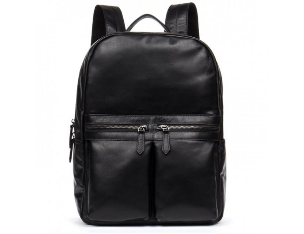 Кожаный городской рюкзак Tiding Bag NM17-1281-3A чёрный - Фото № 9