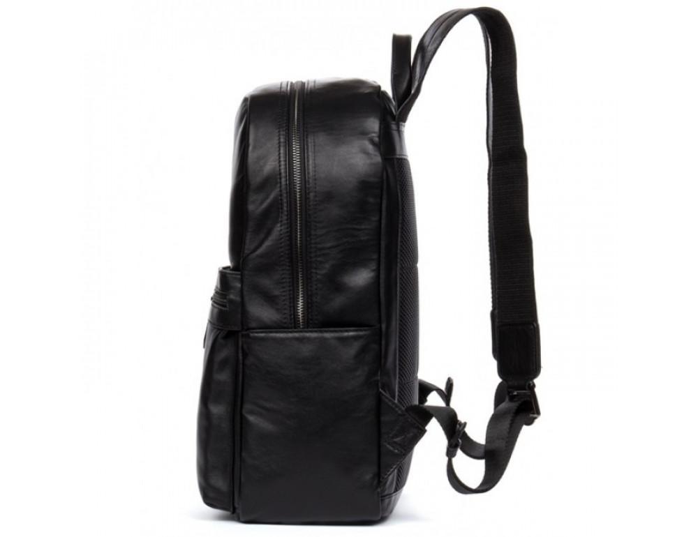 Кожаный городской рюкзак Tiding Bag NM17-1281-3A чёрный - Фото № 7