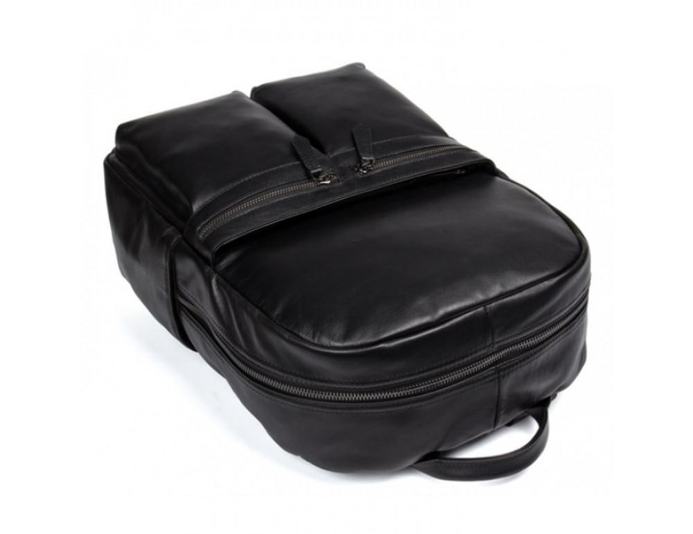 Кожаный городской рюкзак Tiding Bag NM17-1281-3A чёрный - Фото № 6