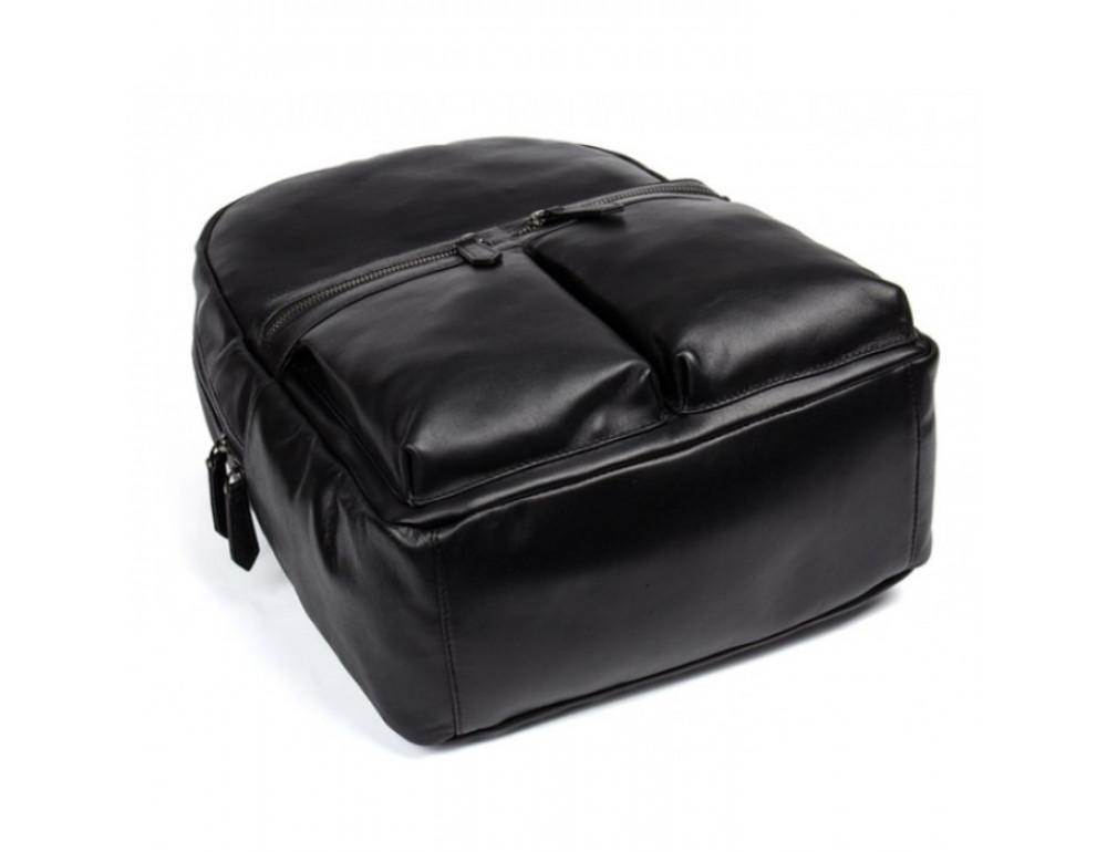 Кожаный городской рюкзак Tiding Bag NM17-1281-3A чёрный - Фото № 5