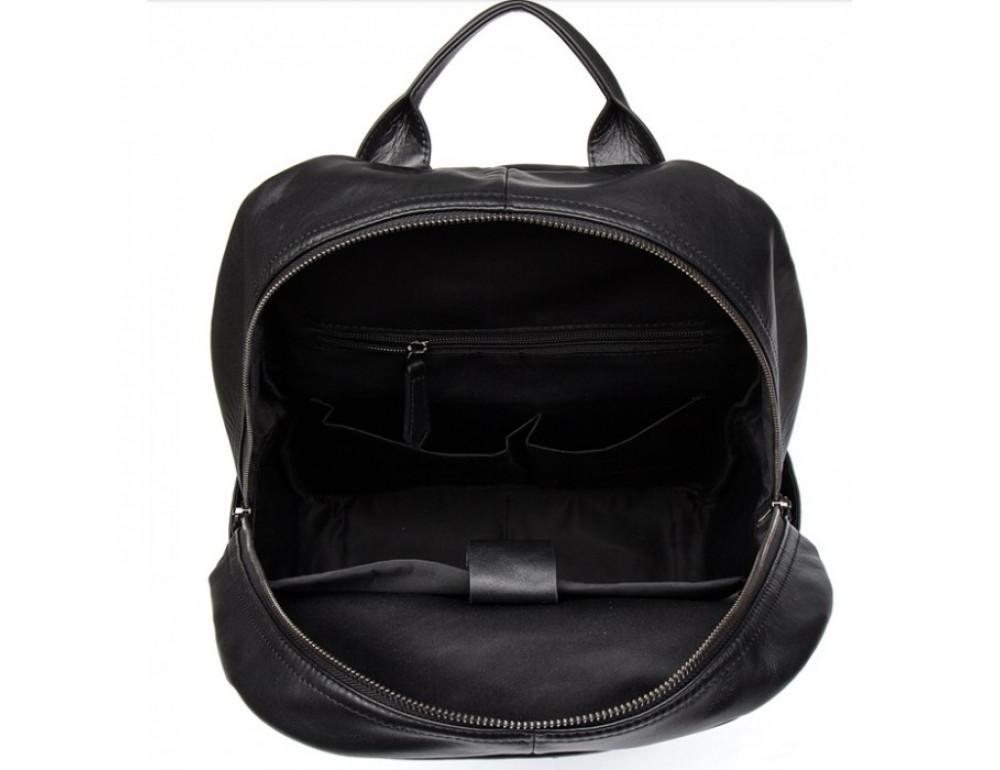 Кожаный городской рюкзак Tiding Bag NM17-1281-3A чёрный - Фото № 4